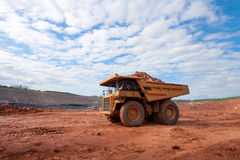 Big mining truck at work site Royalty Free Stock Image
