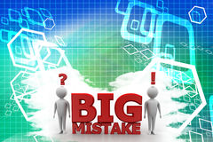 Big Mistake Illustration With Human Illustration Stock Image