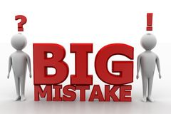 Big Mistake Illustration With Human Royalty Free Stock Photo