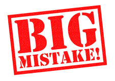 BIG MISTAKE! Royalty Free Stock Photography