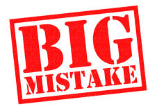 BIG MISTAKE Stock Image