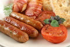 Big Mixed Grill Breakfast Stock Photo