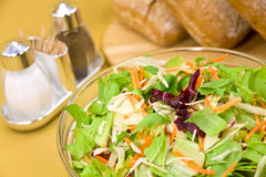 Big mixed salad with lettuce,carrot,cabbage Stock Photos