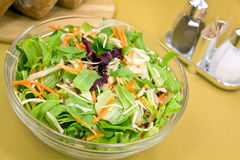 Big Mixed Salad With Lettuce,carrot,cabbage Stock Photography