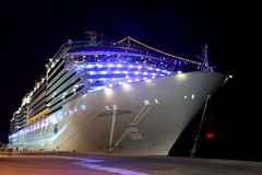 Big modern cruise liner Costa Deliziosa Royalty Free Stock Image