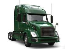 Big modern dark green semi - trailer truck royalty free illustration