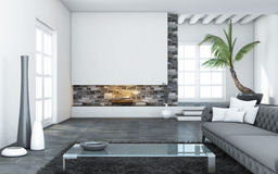Big Modern Living Room Stock Images