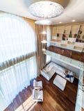Big modern living room Stock Images
