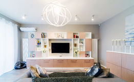 A big Modern living room Royalty Free Stock Photography