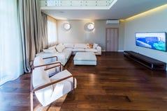 Big modern living room Stock Image