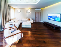 Big modern living room Stock Photos