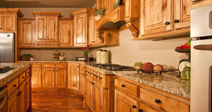 Big Modern New Home Kitchen. Big modern kitchen remodel of new home royalty free stock photos