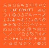 Big modern thin line icon set Royalty Free Stock Photography