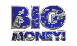 Big Money Earn Income Revenue Jackpot Words. 3d Illustration royalty free illustration