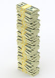 Big money stack from dollars. Finance concepts Stock Images