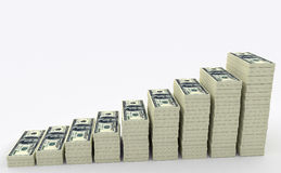 Big money stack. Finance concepts Royalty Free Stock Photography