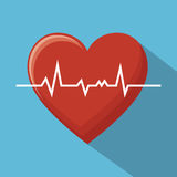 Big monitoring heart sport design blue background Stock Photos