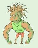 Big monkey. Illustration of a big hairy sportive monkey Royalty Free Stock Photography
