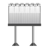Big monochrome street banner for advertisement with lightning Stock Image