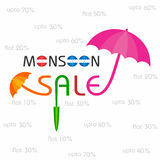 Big Monsoon sale banner for different discounts Stock Photo
