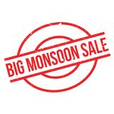 Big Monsoon Sale rubber stamp. Grunge design with dust scratches. Effects can be easily removed for a clean, crisp look. Color is easily changed Royalty Free Stock Photo