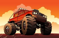 Monster Truck Sport Car. Big Monster Truck Sport Car stock illustration