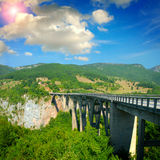 The big Montenegro bridge Royalty Free Stock Images