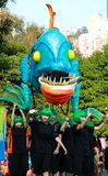 Big Month Fish in Grand Finale Parade. Standard Chartered Arts in the Park Mardi Gras is one of Hong Kong's largest and most vibrant annual community arts Stock Images