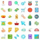 Big moolah icons set, cartoon style. Big moolah icons set. Cartoon set of 36 big moolah vector icons for web isolated on white background Stock Photography