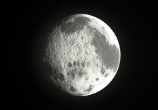Big moon. In a black sky vector illustration