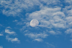 Big Moon in the Clouds Stock Photos