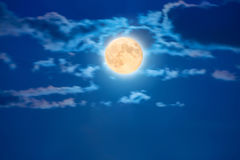Big moon on the sky Stock Image