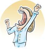 Big Morning Yawn Royalty Free Stock Image