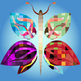 Big mosaic butterfly Royalty Free Stock Photography