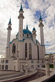 Big mosque. Russia. Sity of Kazan. The Kul Sharif mosque is largest in Europe stock photos
