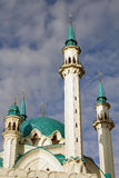 Big mosque. Russia. Sity of Kazan. The Kul Sharif mosque is largest in Europe stock photo