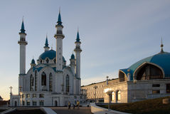Big mosque in Kremlin of Kazan. Big new mosque in Kremlin of Kazan Stock Photo