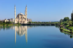 Big Mosque with six minaret in Adana Royalty Free Stock Images