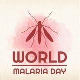 World Malaria Day, 25 April. Big mosquito conceptual illustration Royalty Free Stock Image