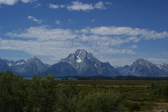 Big mountain. This picture was taken in Grand Teton National Park in summer stock photography