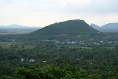A big mountain in Battambang province, Cambodia stock image