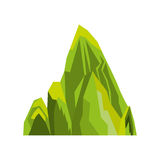 Big mountain isolated icon Royalty Free Stock Photography
