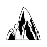 Big mountain isolated icon Stock Images