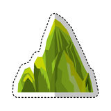 Big mountain isolated icon Stock Photography