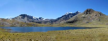 Big mountain lake on altiplano, Bolivia Royalty Free Stock Photos