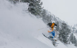 Big mountain skiing Royalty Free Stock Photography