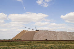 Big mountain of waste generated from the production of potash fertilizers Royalty Free Stock Photography