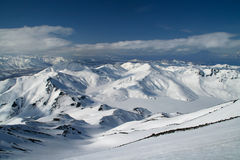 Big mountains with snow Stock Images