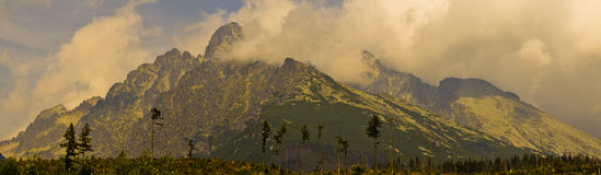 Big mountains. Trip in big mountains with friends Royalty Free Stock Photography
