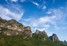 Big moutain with blue sky. Lanscape Royalty Free Stock Photography